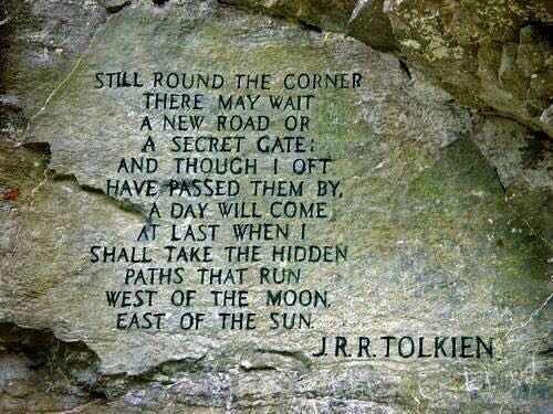 Tolkien lesson for today – The road goes ever on