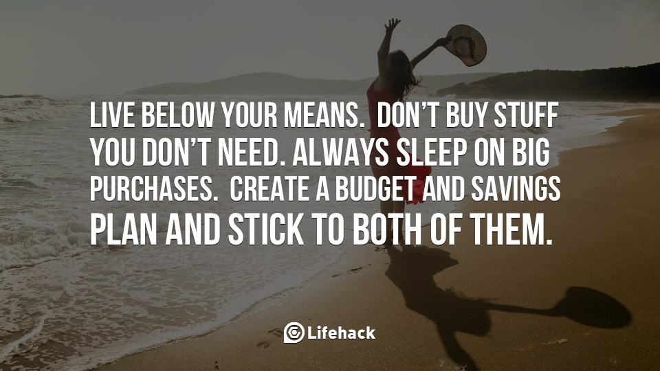 Living below your means and other realities of life